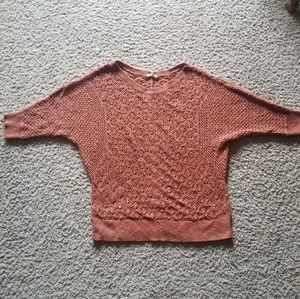 Dolman sleeve rust orange sweater